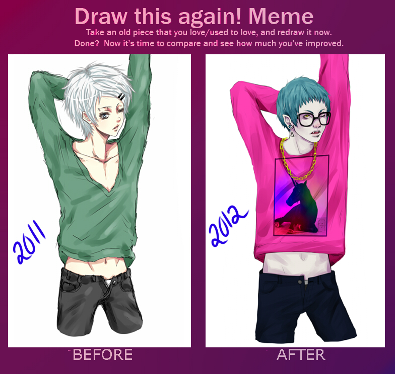 Before and After meme by ko-yamii