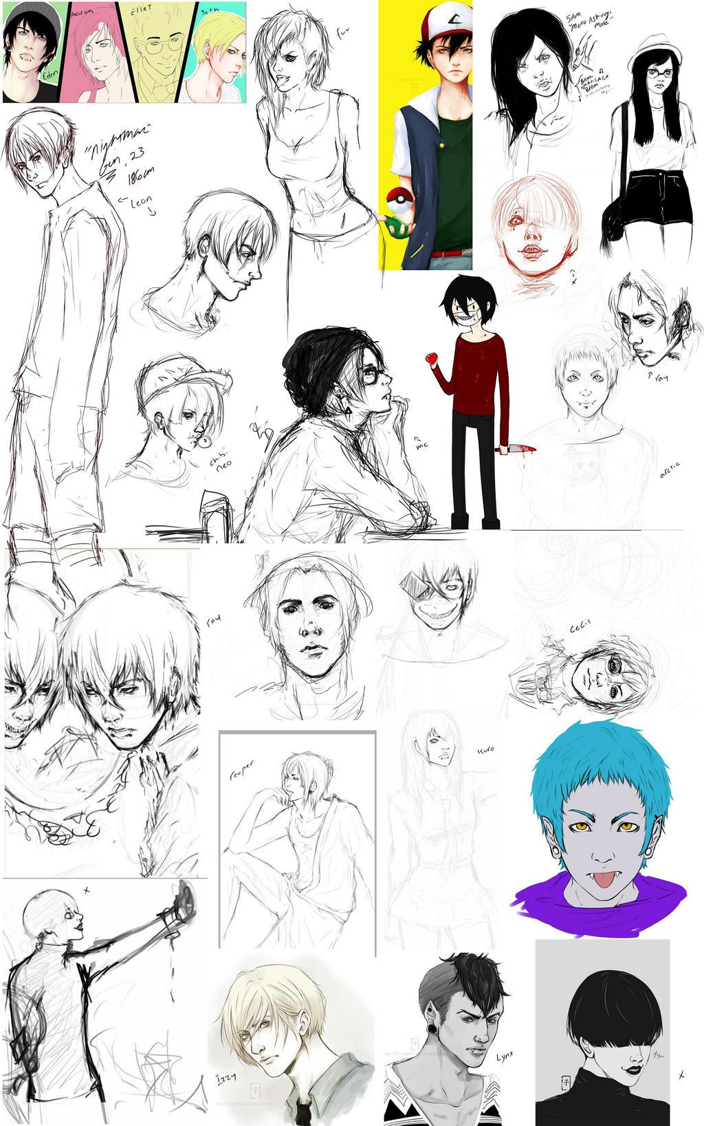 Sketch and Tumblr dummmpp by ko-yamii