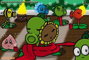 A PvZ Christmas by Magicwaterz16