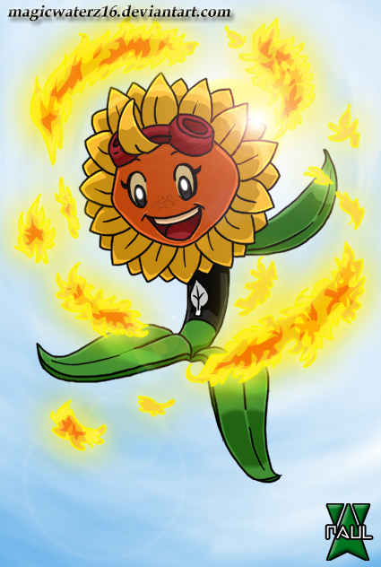 Plants Vs Zombies Heroes Solar Flare By Magicwaterz16 On