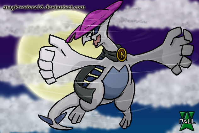 Lugia as Night Cap by Magicwaterz16