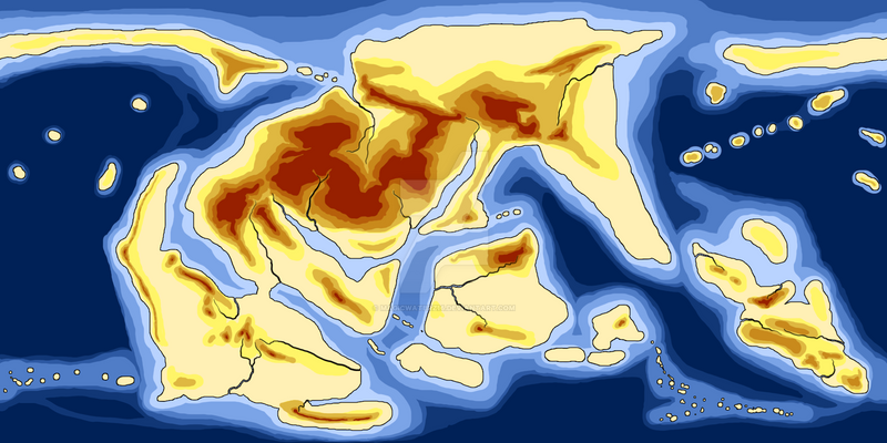 Markion World Elevation Map 300 Mya By Magicwaterz16 On Deviantart