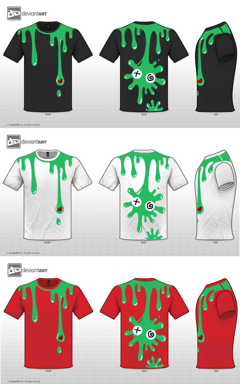T-Shirt1:Slime by LittleDarkDragon