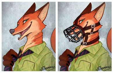 Sly fox by LittleDarkDragon
