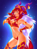 Alexstrasza. Commission (NSFW optional). by Taiss14