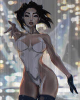 Whisper. Ghost in the Shell anime fanart. by Taiss14