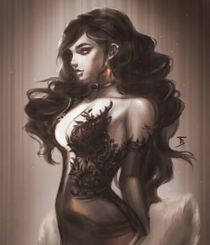 Black dress. Commission.