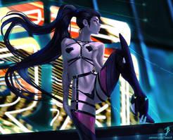 Widowmaker bikini1 (+NSFW and H-scene with Ashe).