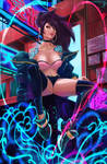 Akali KDA city. (+NSFW and H-Scene). by Taiss14