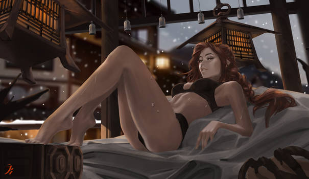 Lara (waking up) (+EXTRA NSFW optional).