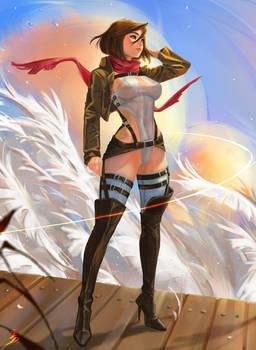 Mikasa, leotard ver. (NSFW optional).