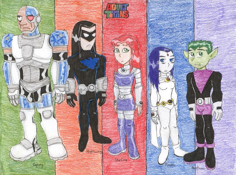 Adult Teen Titans by ~bastet1994 on deviantART