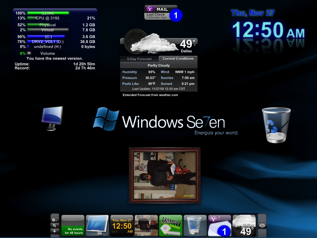 Windows 7 Desktop for XP by creativecraig