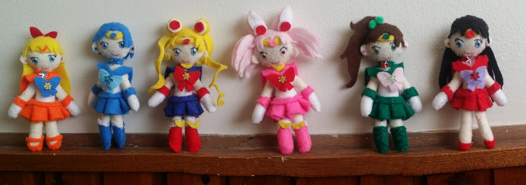 Sailor Moon Chibi Plushies (ALL FOR SALE) by CocoaSama