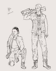 Cyberpunk Character Sketch