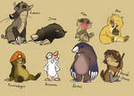 Mole and gopher characters lol