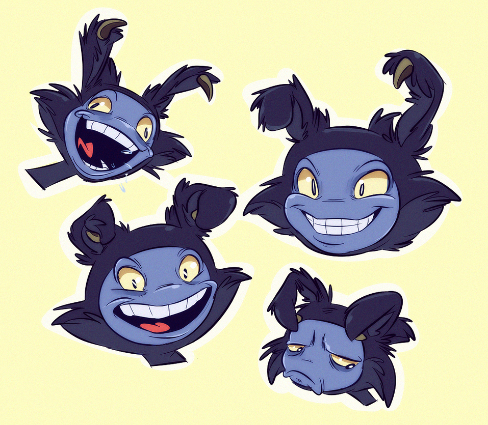 Twig faces by Konnestra