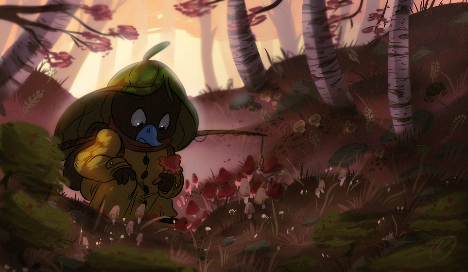 Checking the shrooms by Konnestra