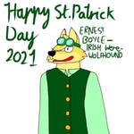 Ernest Boyle- St Patricks day - were-wolfhound