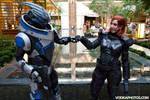 A-kon 2014 Garrus and Shepard