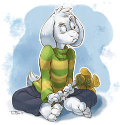 Grumpy Goat by teaselbone