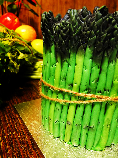 Competition: Asparagus Cake by cakecrumbs