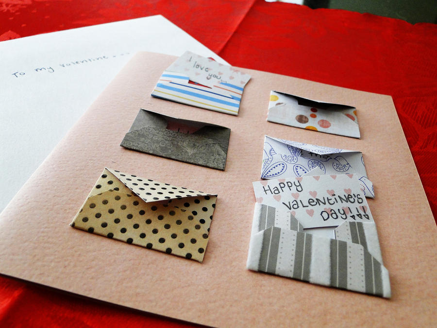 Handmade Valentines Day Card by cakecrumbs on DeviantArt – How to Make Valentine Greeting Card