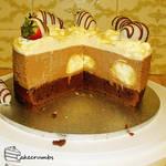 Chocolate Mousse Profiterole Cake