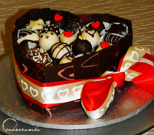 Chocolate Truffle Cake Box by cakecrumbs