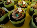Chocolate Cake Box Tier -- Cupcakes