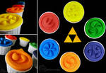 Ocarina of Time: Sage Medallion Cupcakes