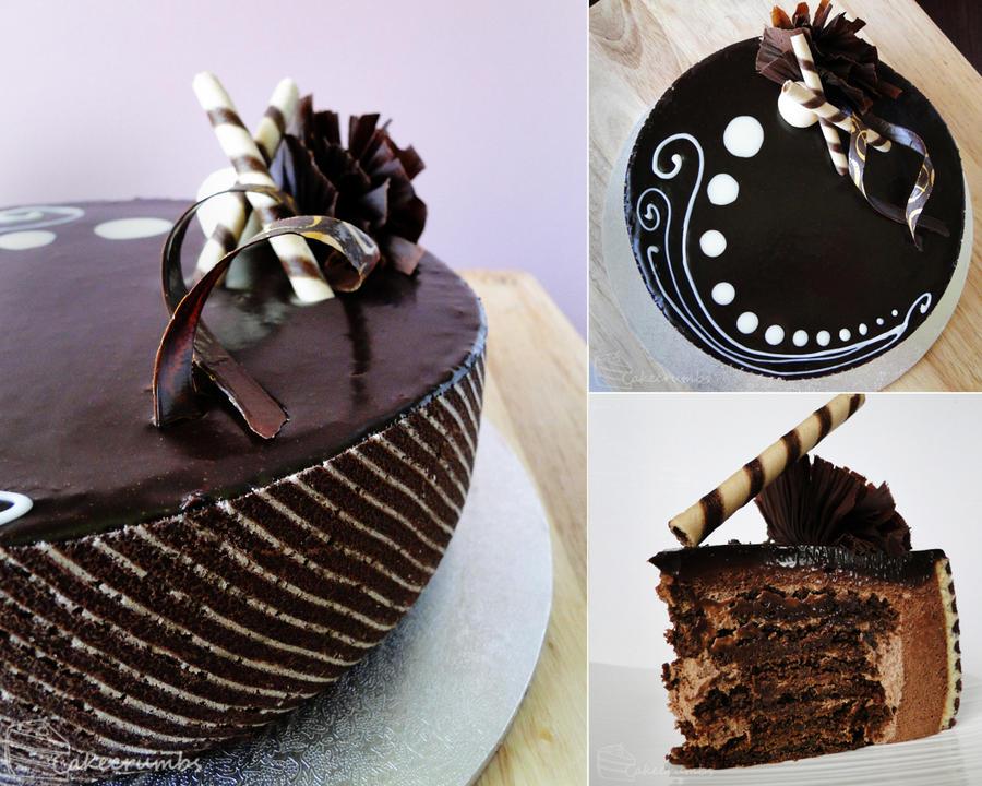 Peppermint Chocolate Ripple Cake