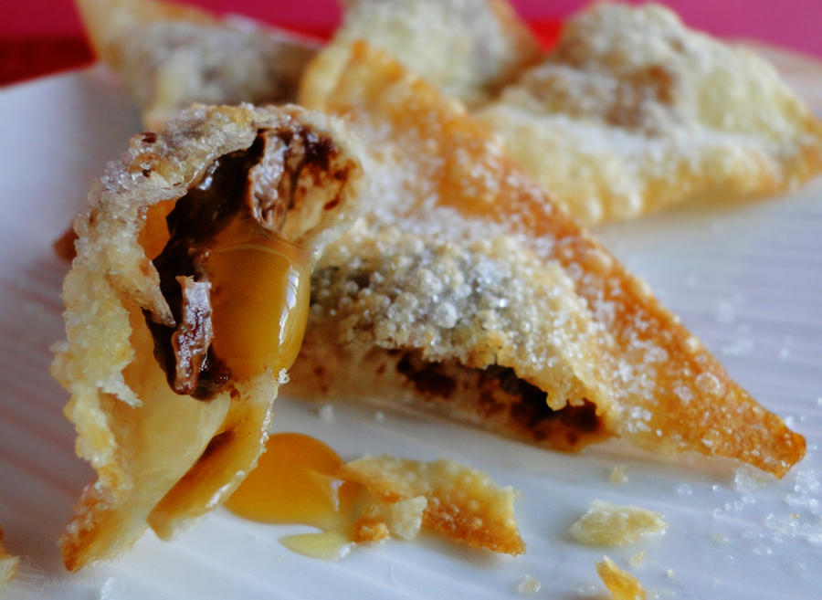 Chocolate Filled Wontons by cakecrumbs on DeviantArt