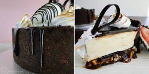 Salted Peanut Caramel and White Choc Cheesecake