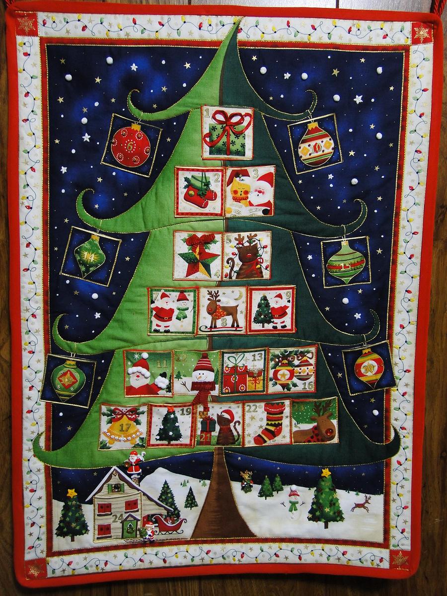 Advent Calendar Quilting Panel By Cakecrumbs On Deviantart