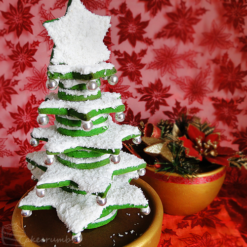 12 Days of Christmas :: 1 Christmas Cookie Tree by cakecrumbs