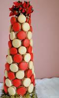 Festive Macaron Tower