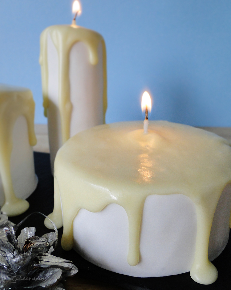 12 Days of Christmas :: 3 Candle Cakes by cakecrumbs