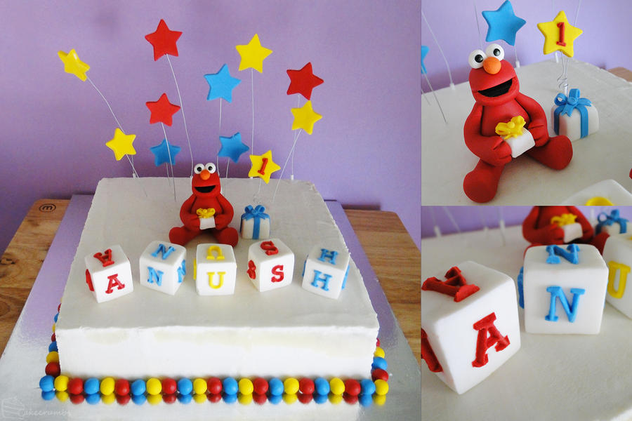 Commission First Birthday Elmo Cake By Cakecrumbs On Deviantart