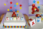 Commission: First Birthday Elmo Cake