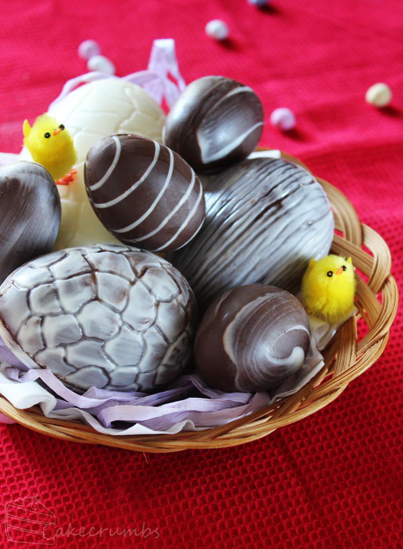 Home-made Chocolate Easter Eggs by cakecrumbs