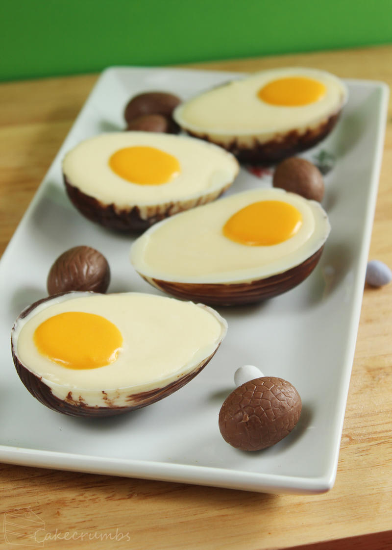White Chocolate Mousse Eggs by cakecrumbs