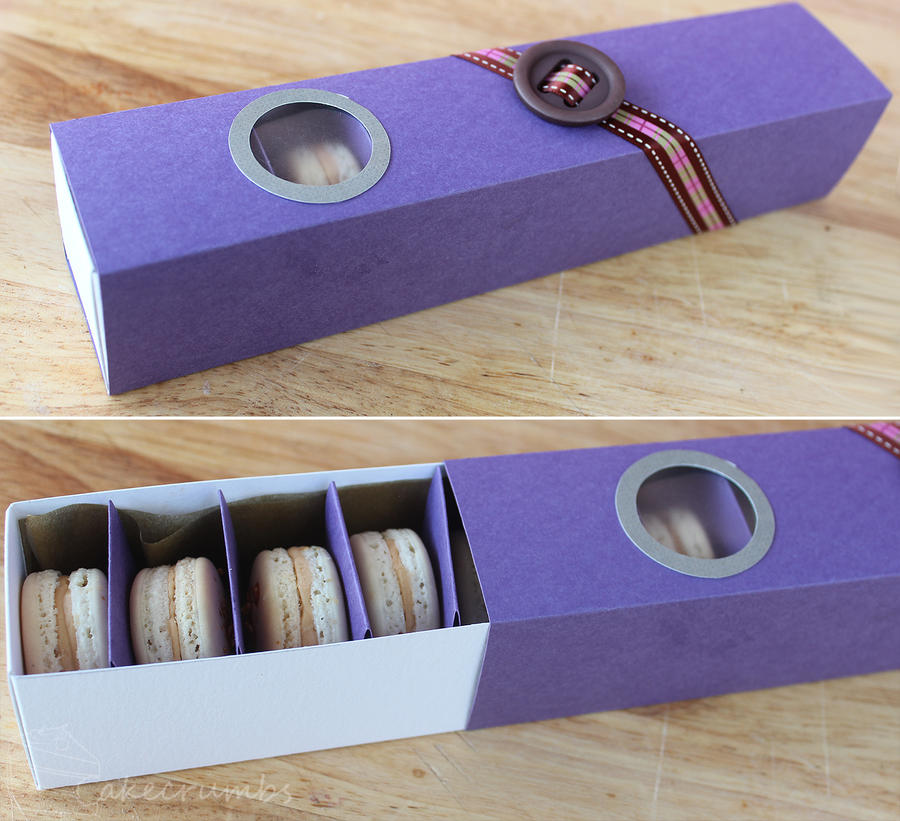 Macaron Box by cakecrumbs