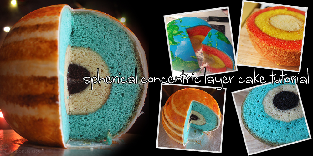 Spherical Concentric Layer Cake Tutorial by cakecrumbs