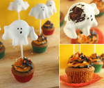 Ghostly Pumpkin Cupcakes