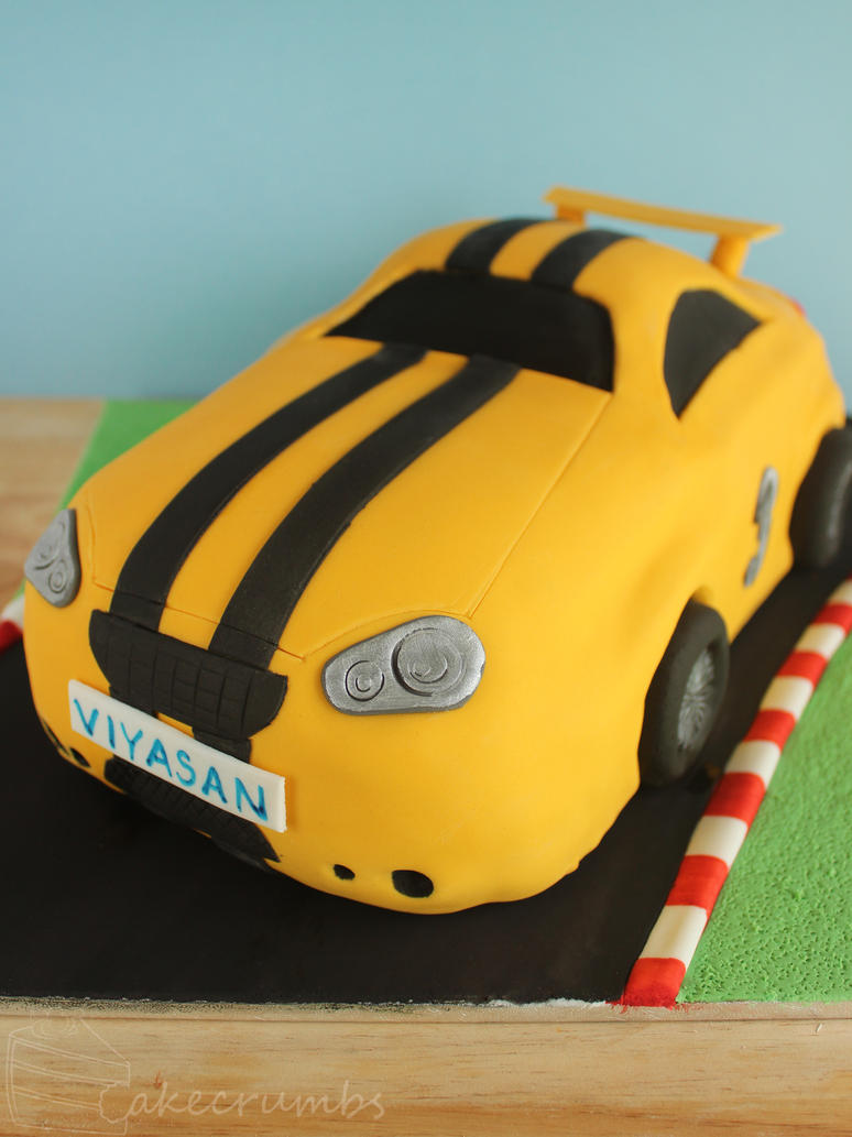 Race Car Birthday Cake by cakecrumbs