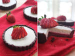Strawberry and White Chocolate Mousse Tartlet