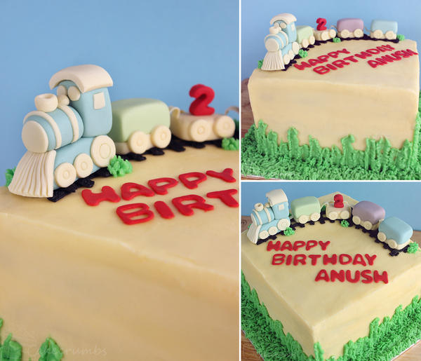 Second Birthday Train Cake by cakecrumbs