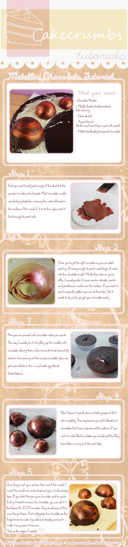 Metallic Chocolate Tutorial by cakecrumbs