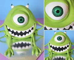 Mike Wazowski Cake by cakecrumbs